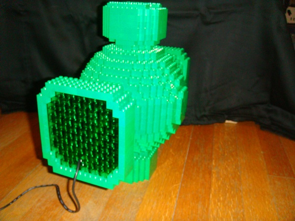 Lego Green Lantern Power Battery back