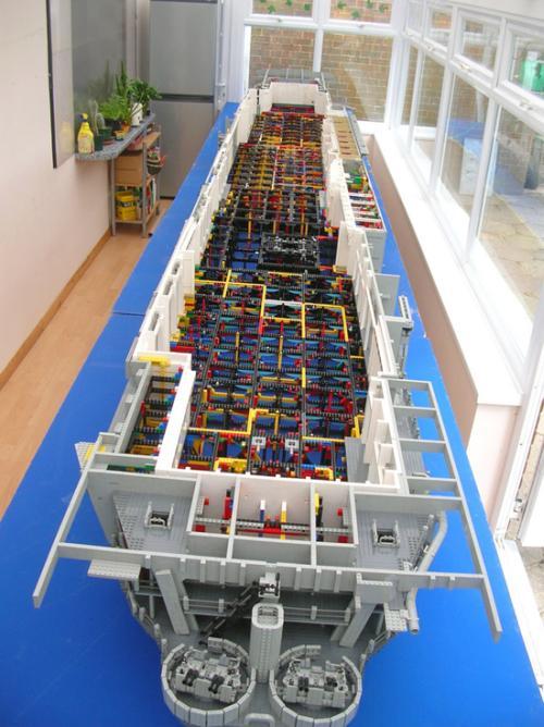 Lego USS Intrepid Inside