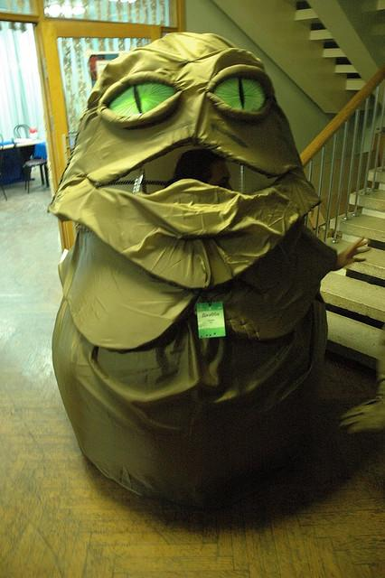 bizarre star wars costumes jabba the hut costume 1