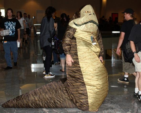 bizarre star wars costumes jabba the hut costume 2