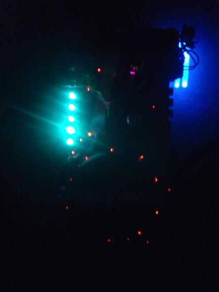 lit up in dark