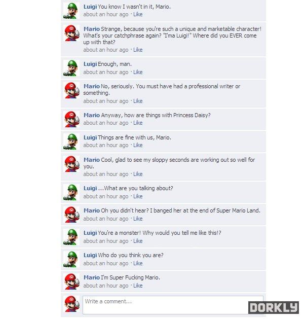 mario & luigi facebook fight part 2