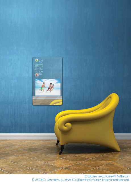 Conceptual interior with yellow armchair