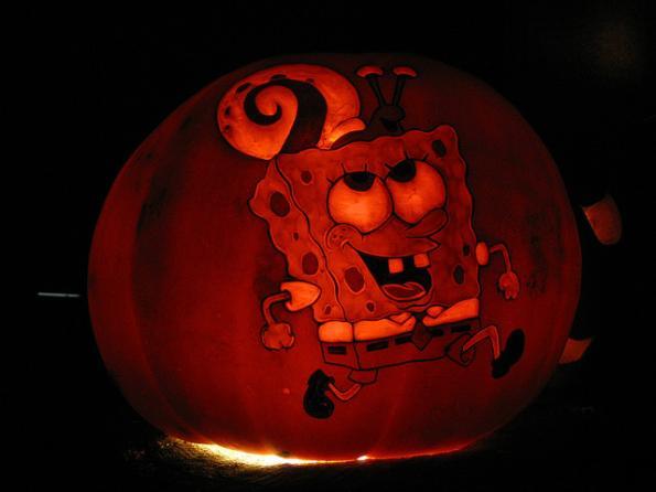 pumpkin carvings spongebob squarepants 1