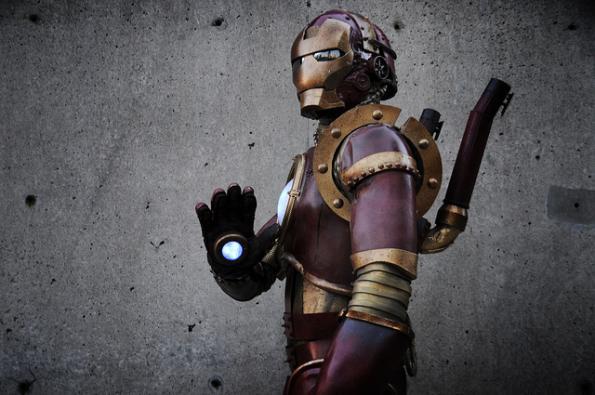 steampunk iron man comic con 2010 6