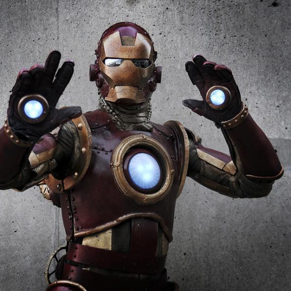 steampunk iron man comic con 2010 7