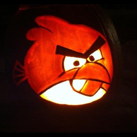 angry birds game collection halloween pumpkin carvings 1