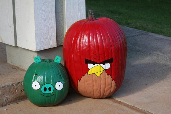 angry birds game collection halloween pumpkin carvings 6