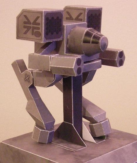 mech warrior papercraft automata