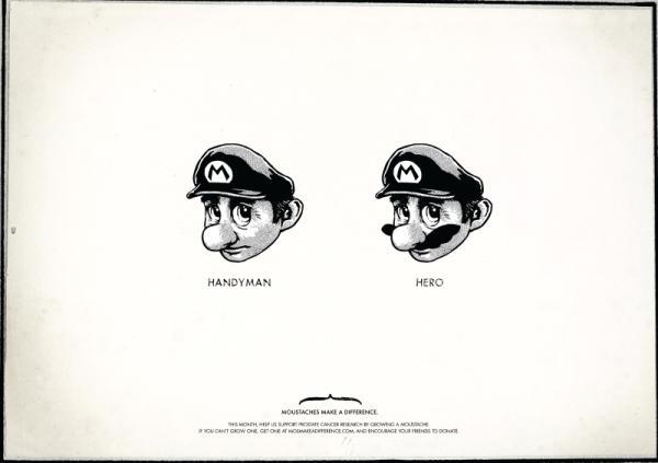 mustache design super mario bros