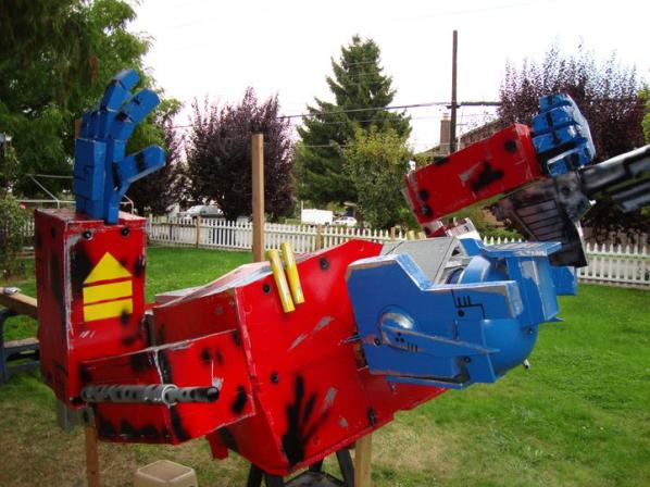 optimus prime transformers statue halloween 2010