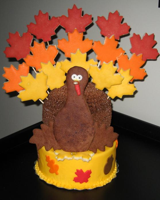 thanksgiving turkey themed cakes 2