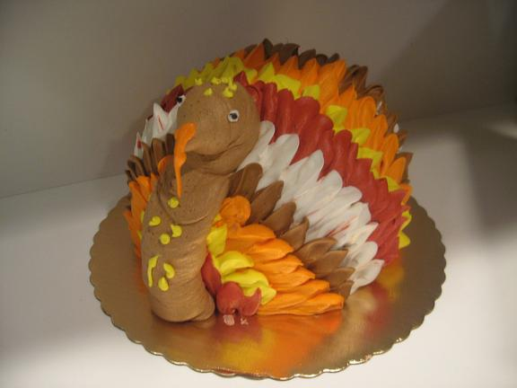 thanksgiving turkey themed cakes 4