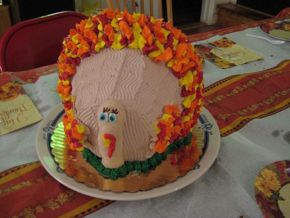 thanksgiving turkey themed cakes 6